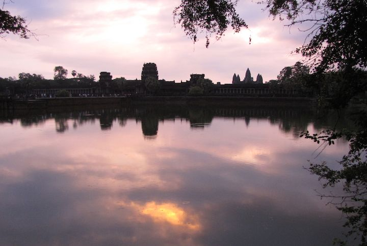 photo of sunrise at Angkor Wat