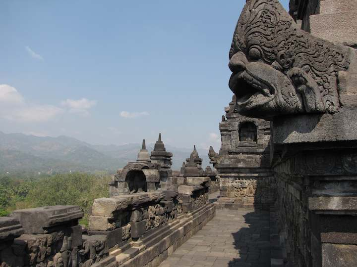 photo of gargoyle at Borobudur temple