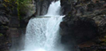 Waterfall, Going to the Sun Road, Glaicer Waterton International Peace Park
